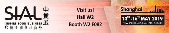 Visit us at Sial China | May 14 - 16 | Hall W2, Booth W2 E082